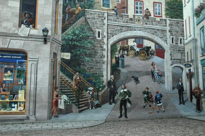 Quebec city canada for Mural quebec city